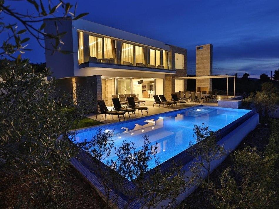 Luxus villa mit pool auf der insel brac terra dalmatica for Pool verkauf